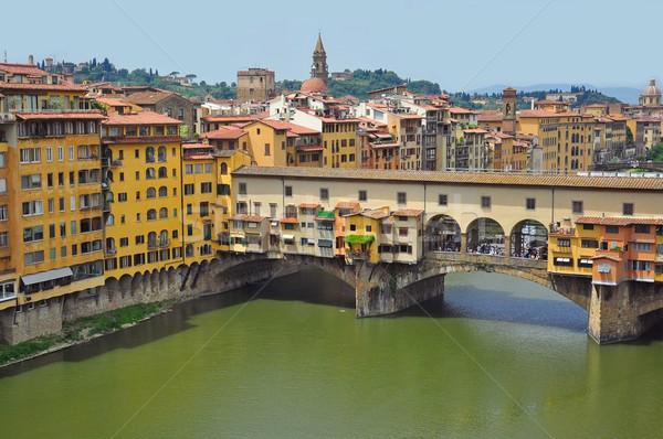 Puente Florencia Italia ciudad río Foto stock © ruigsantos