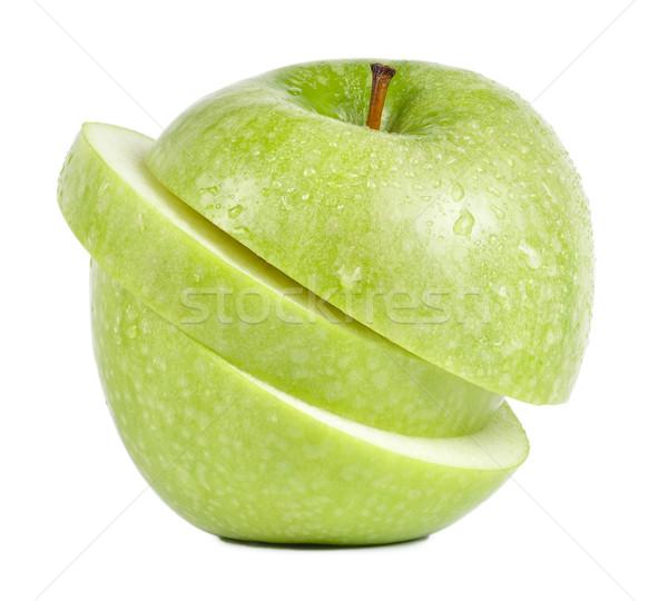 緑 リンゴ 孤立した ショット 新鮮な ストックフォト © ruigsantos
