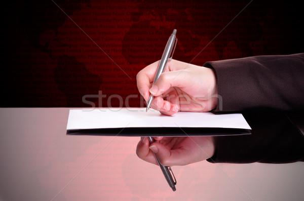 Businessperson Writing Stock photo © ruigsantos