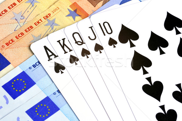 ギャンブル ロイヤル ポーカー 手 先頭 銀行 ストックフォト © ruigsantos