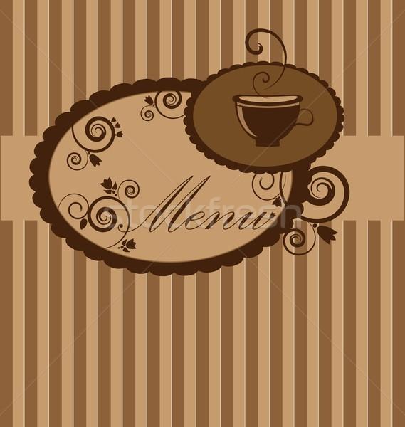 Dizayn menü fincan kahve Stok fotoğraf © rumko