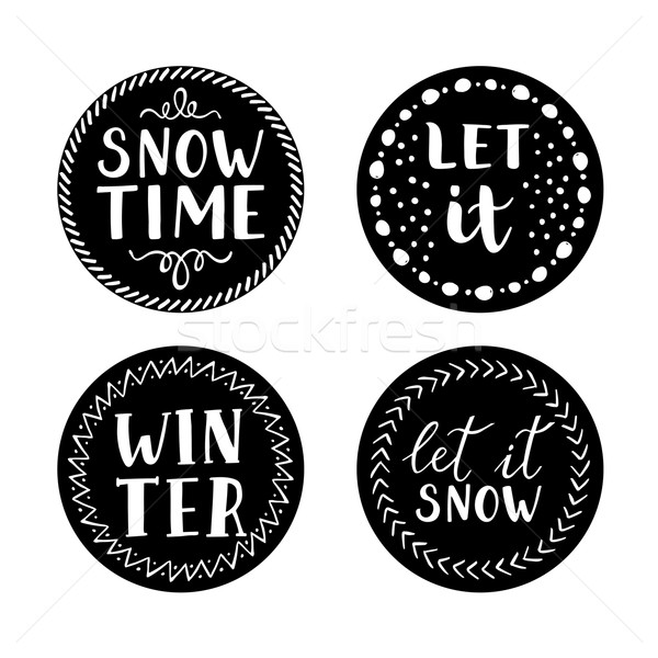Stock photo: Let it snow Christmas Icons