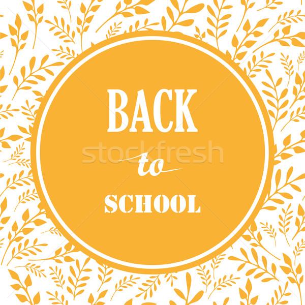Back to School Vector Illustration. Stock photo © rumko