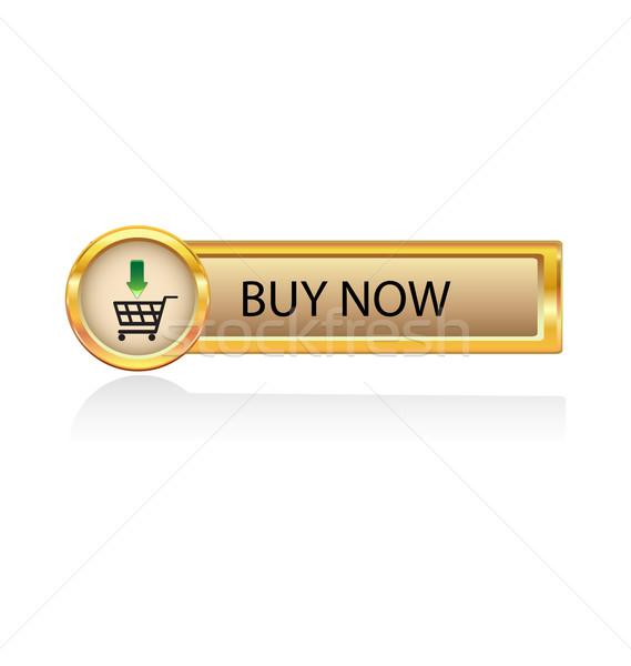 символ золото кнопки торговых изолированный Сток-фото © rumko