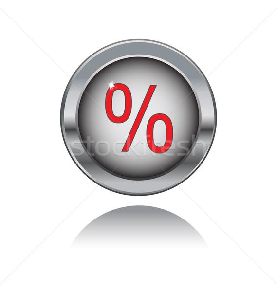 Metal düğme yüzde imzalamak yalıtılmış beyaz Stok fotoğraf © rumko