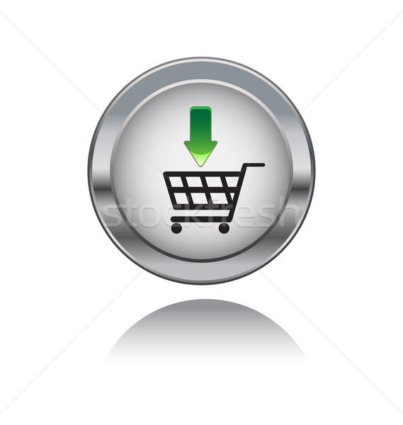 металл кнопки символ изолированный белый знак Сток-фото © rumko
