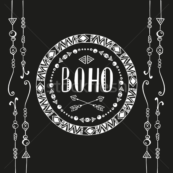 Hand drawn sign in boho style. Vector illustration. Stock photo © rumko