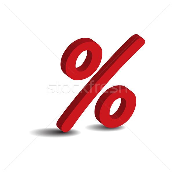 Yüzde 3D imzalamak yalıtılmış beyaz para Stok fotoğraf © rumko
