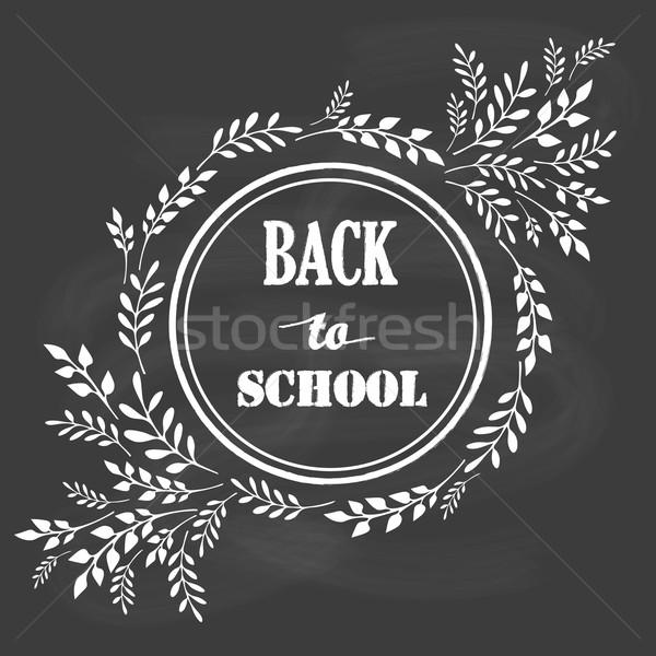 Powrót do szkoły projektu elementy tablicy Zdjęcia stock © rumko