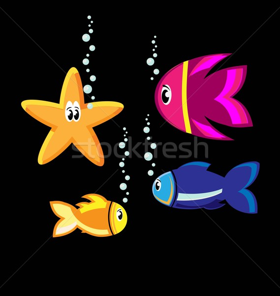 Stock photo: set of color fish