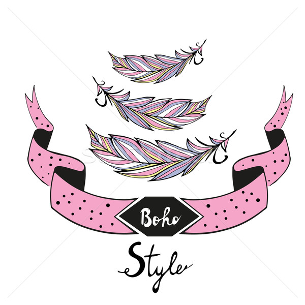 Boho style vector illustation Stock photo © rumko