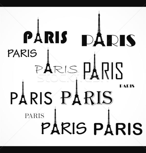 paris. text Stock photo © rumko