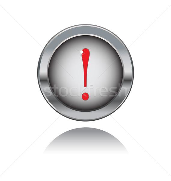 металл кнопки красный знак изолированный белый Сток-фото © rumko