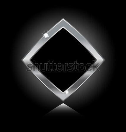 металл кадр изолированный черный дизайна Сток-фото © rumko
