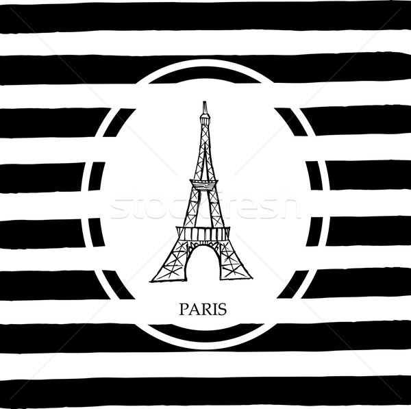 Эйфелева башня Париж свободный стороны эскиз Сток-фото © rumko
