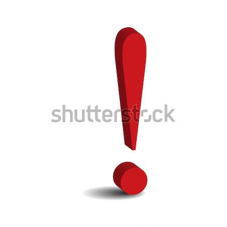 Kırmızı imzalamak yalıtılmış beyaz iş soyut Stok fotoğraf © rumko
