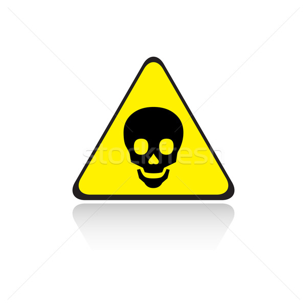 Stock photo: poison yellow sign