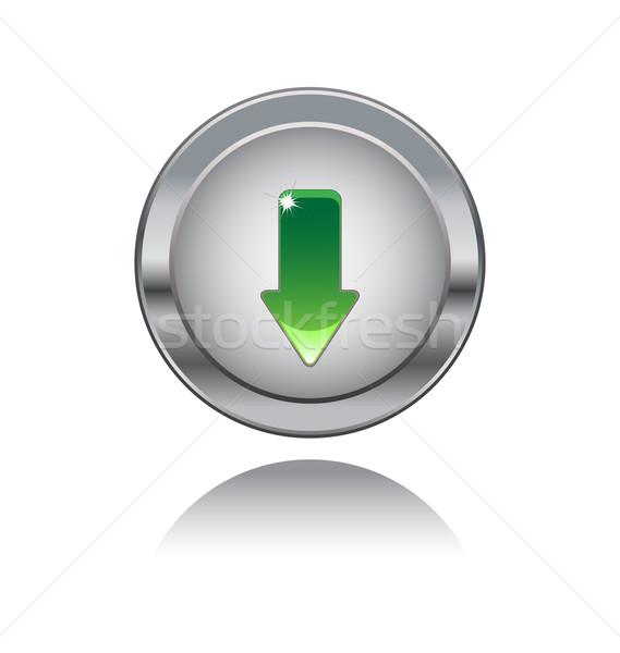 Metal düğme şarkı söylemek yalıtılmış beyaz Internet Stok fotoğraf © rumko