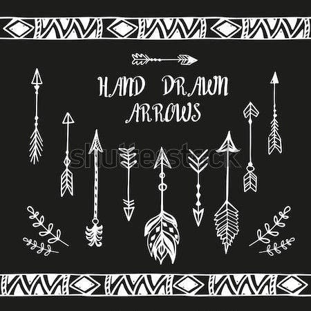 Hand drawn ethnic collection. Vector set with  boho elements Stock photo © rumko
