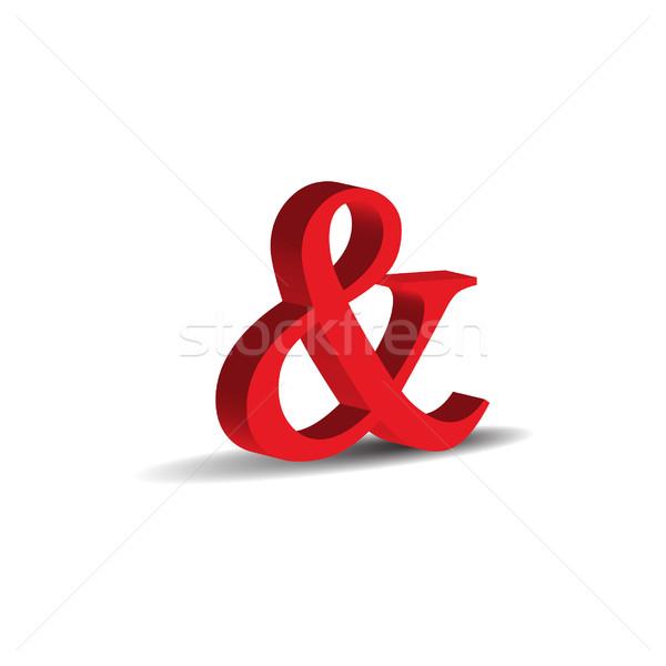 красный 3D знак изолированный белый бизнеса Сток-фото © rumko