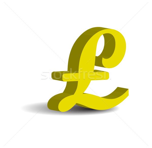 Pound 3D ikon yalıtılmış beyaz iş Stok fotoğraf © rumko