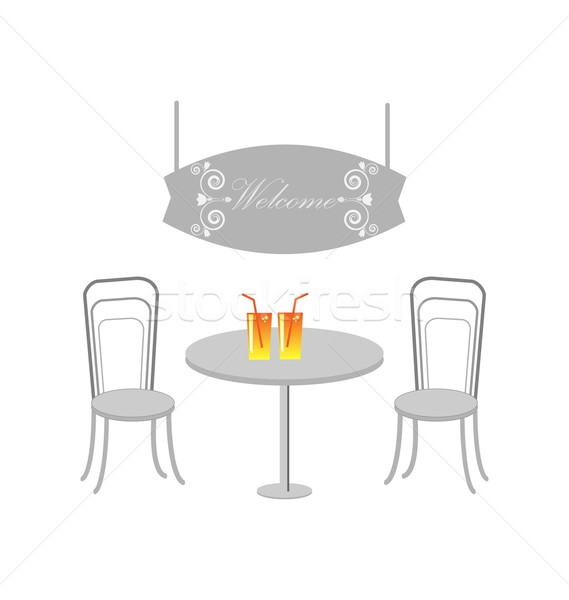 Vektör restoran menü dizayn tablo yalıtılmış Stok fotoğraf © rumko