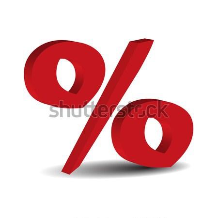 Kırmızı 3D yüzde imzalamak yalıtılmış beyaz Stok fotoğraf © rumko