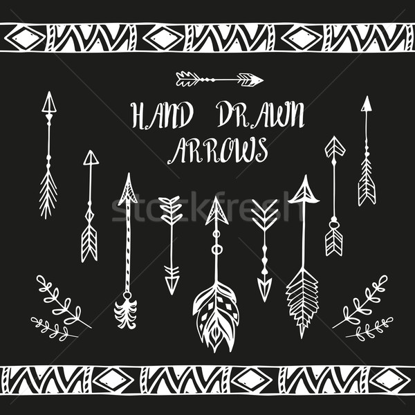 Hand drawn arrows set. Vector illustration Stock photo © rumko