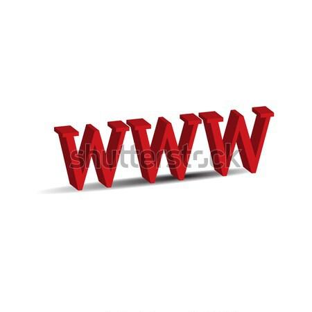 Www 3D ikon yalıtılmış beyaz gazete Stok fotoğraf © rumko