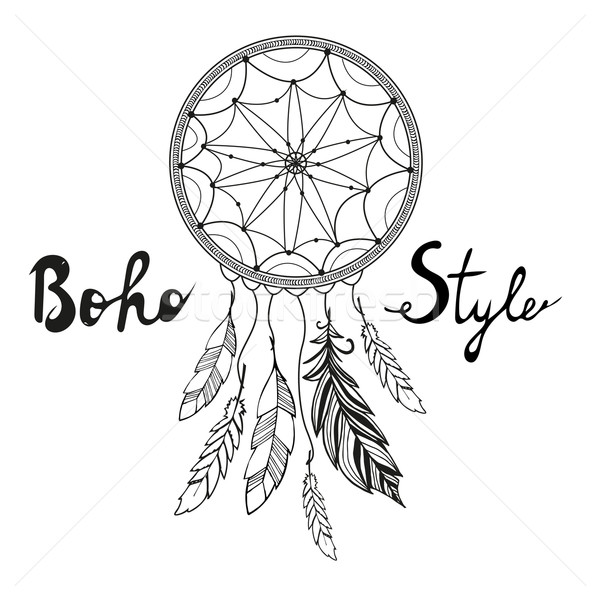 Indian Dream catcher. Boho style Stock photo © rumko