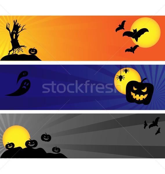 Stock photo: Halloween banners
