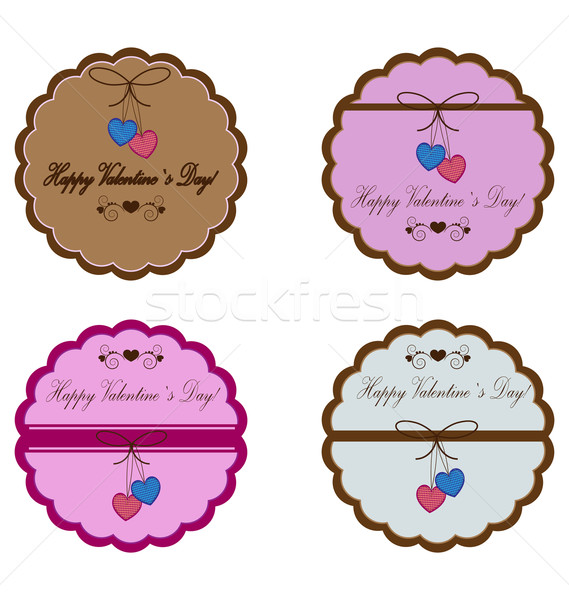 Stock photo: vector icons for valentine`s day