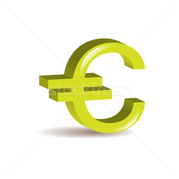 3D евро икона бизнеса знак Финансы Сток-фото © rumko