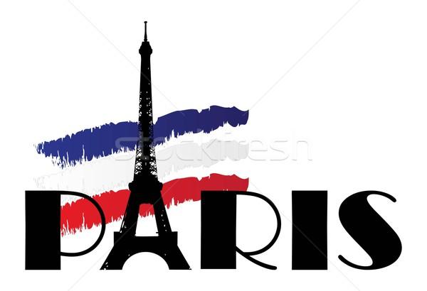 Słowo Paryż banderą Francja streszczenie wycieczka Zdjęcia stock © rumko