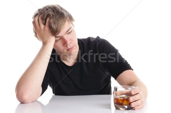 Stock fotó: Fiatalember · alkohol · erőszak · rövid · szőke · haj