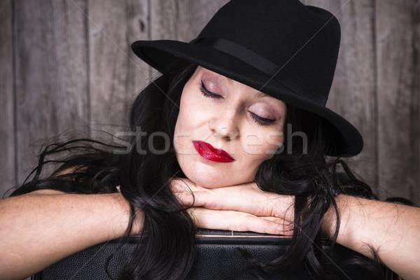 девушки Hat элегантный долго Сток-фото © runzelkorn