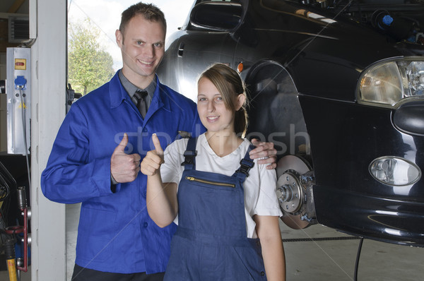 Auto Repair, apprentice to master Stock photo © runzelkorn