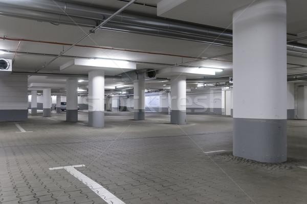 подземных гаража пусто вновь серый конкретные Сток-фото © runzelkorn