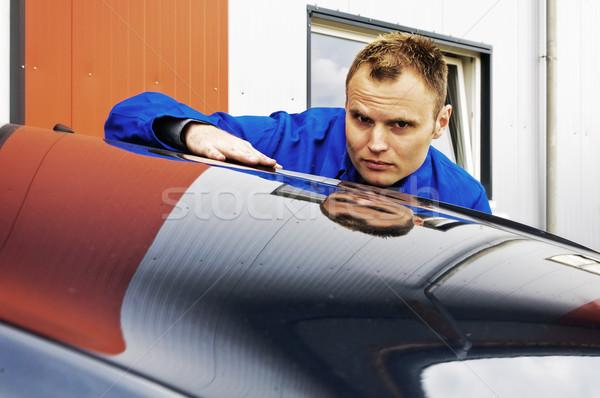 Auto Repair paint check Stock photo © runzelkorn