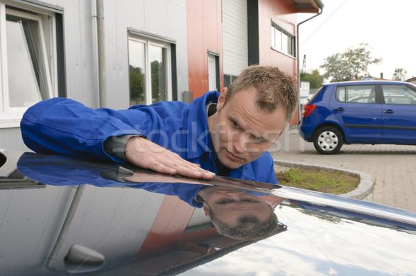 Oto tamir boya kontrol araba mekanik Stok fotoğraf © runzelkorn
