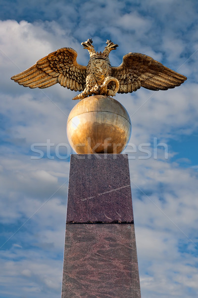 golden russian two-headed eagle sitting on an orb in Helsinki Stock photo © RuslanOmega