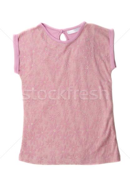 розовый блузка цветочный шаблон белый Сток-фото © RuslanOmega