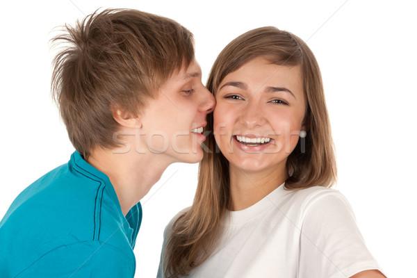 boy kisses a girl Stock photo © RuslanOmega