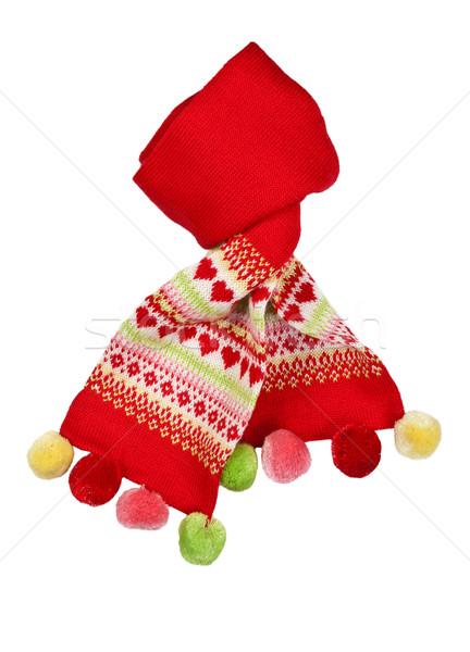 Rosso sciarpa pattern cuore isolato Foto d'archivio © RuslanOmega