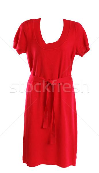 赤 フェミニン 編まれた ガウン 白 背景 ストックフォト © RuslanOmega