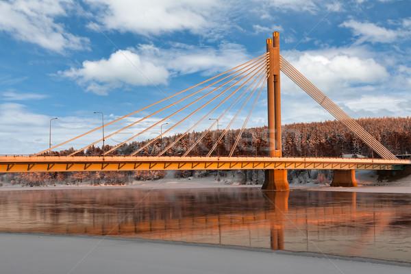 Stock photo: The bridge over the river