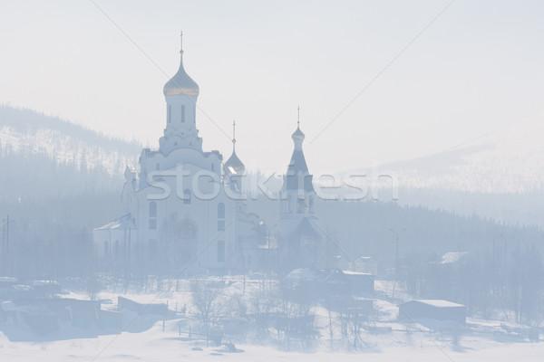 Церкви тумана православный снега дым Сток-фото © RuslanOmega