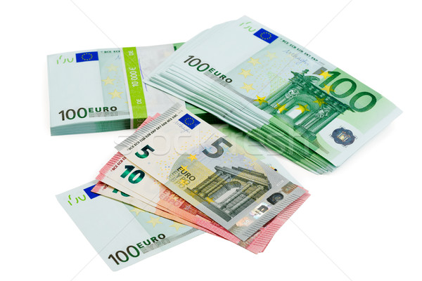 Euro banknotes of different denomination closeup Stock photo © RuslanOmega