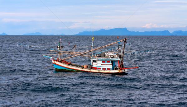 Thai fishing schooner at sea Stock photo © RuslanOmega