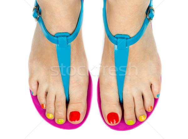 Female feet with a pedicure color Stock photo © RuslanOmega